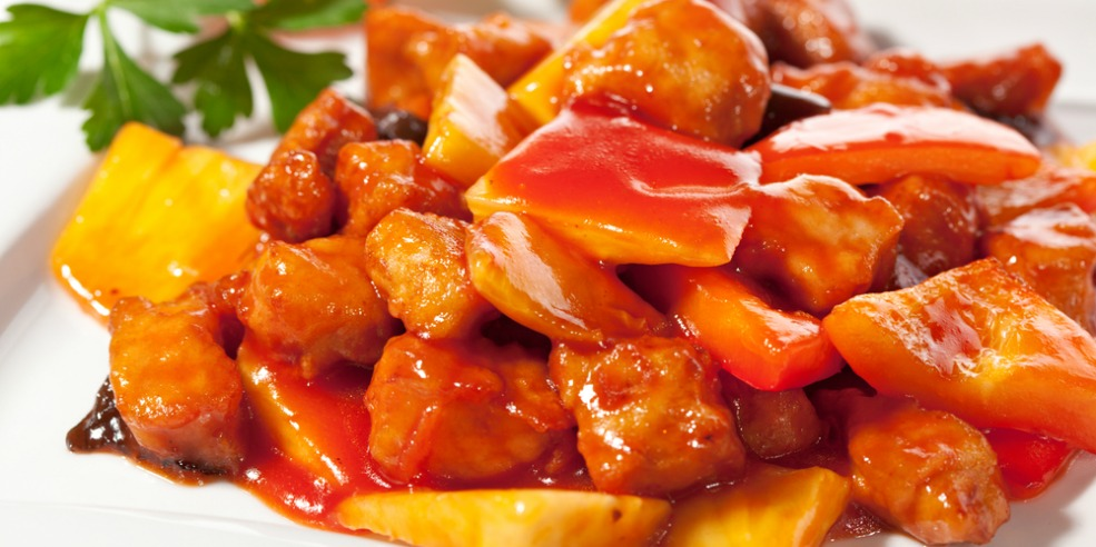 курица по тайски в кисло сладком соусе